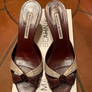 Manolo Blahnik slip-on Sandals